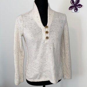 Liz Claiborne Ivory Speckled Sweater Medium